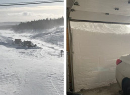 """Astonishing Images of Canadian Blizzard Show Piles of Snow as High as 5 Foot 8"""""""