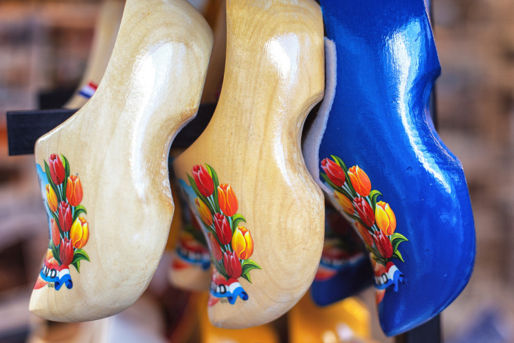 traditional clogs with tulip design