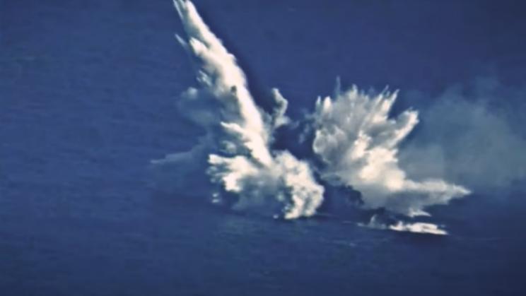 Watch a Torpedo Destroy Ex-USS Ingraham Frigate