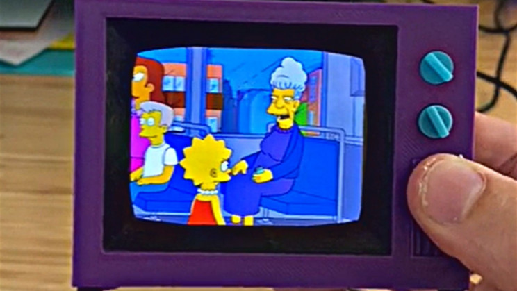 Someone 3D Printed a Working Simpsons Living Room TV