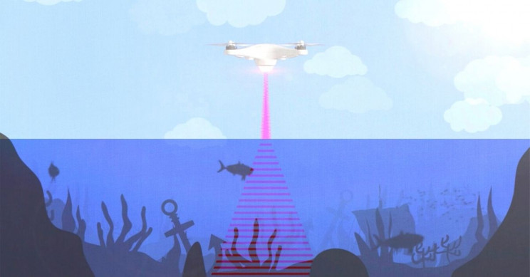 Engineers Blending Light, Sound to See Underwater Floor From Airborne Device