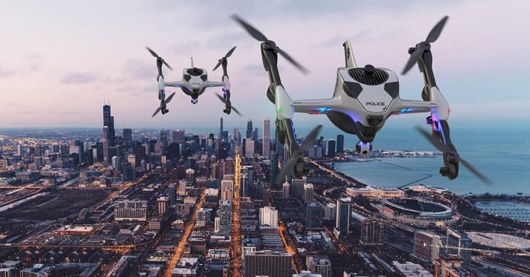 新型140 MPH急救无人机可以在飞行中自行充电
