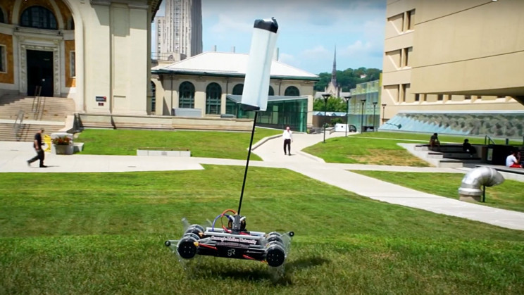 A Tail Lets Carnegie's Cat-Like Robot Jump With Surprising Dexterity
