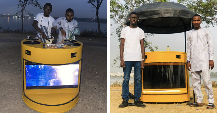 Young Inventor Designs Solar-Powered Kiosk To Help Local Vendors