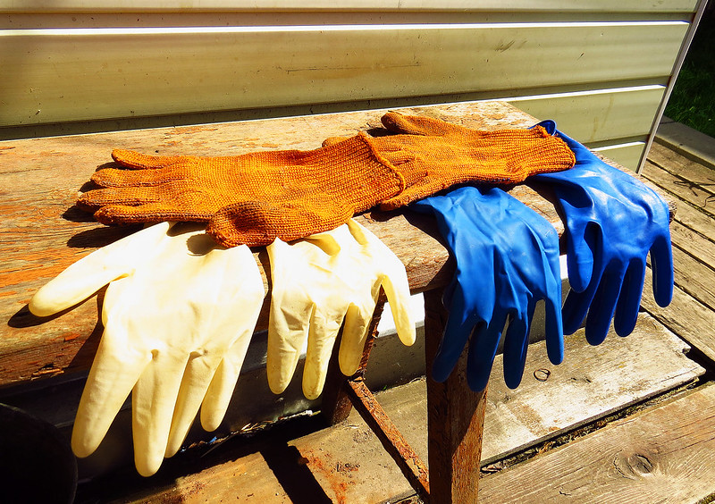 industrial processes latex gloves
