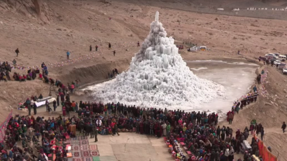 Engineer Builds Artificial Glaciers to Provide Fresh Water for the High Desert of Himalaya