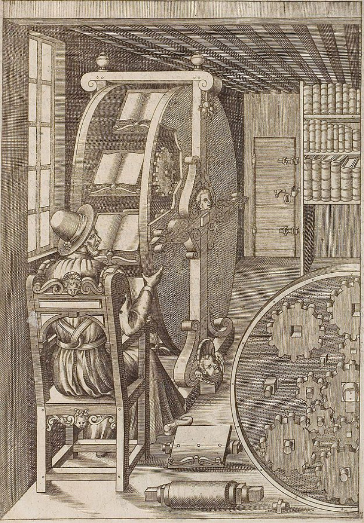 The Bookwheel Allowed 16th-Century Scholars to Read Multiple Books at One Time