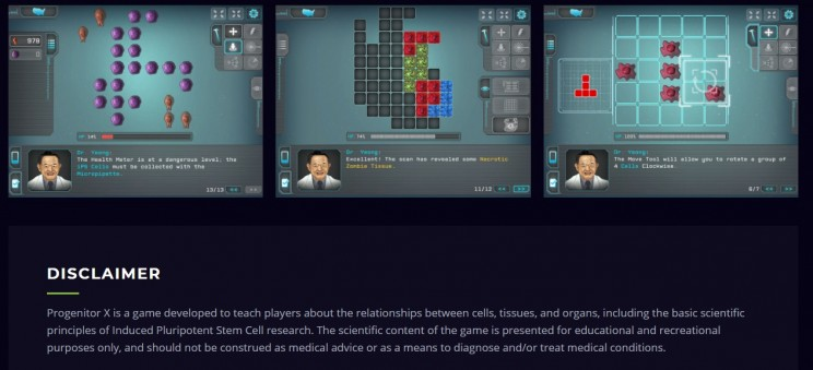 games about biology Progenitor X