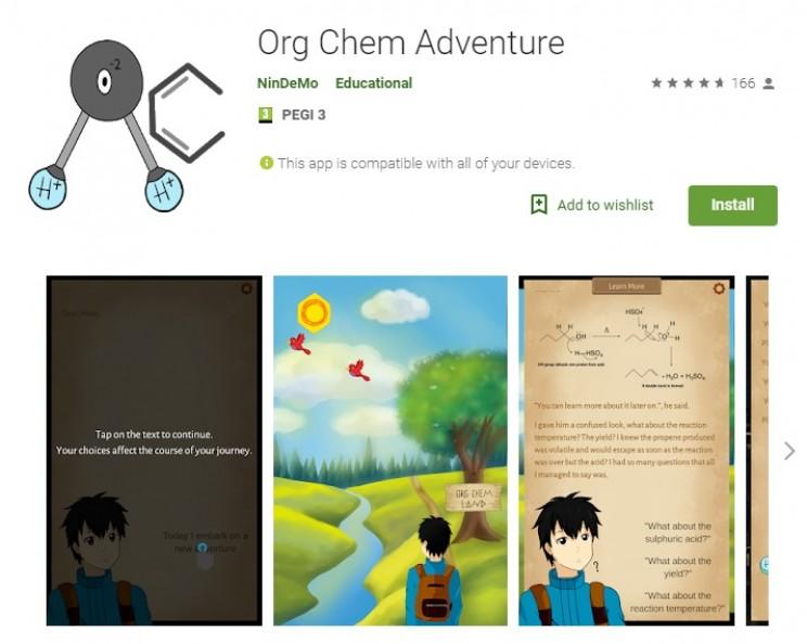 chemistry games org chem adventure