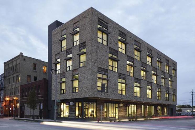 eco-friendly buildings clock shadow