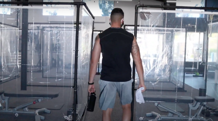 California Gym Reopens With 10-Foot Separation Pods for COVID-19