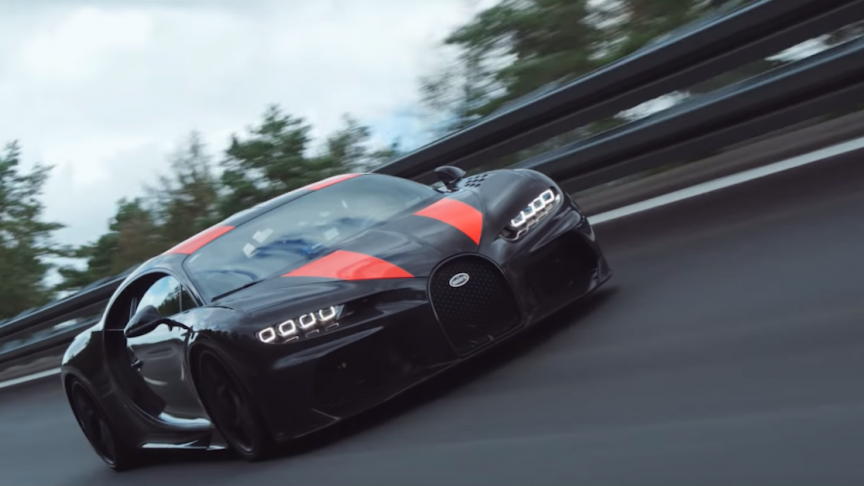 Watch a Video of Bugatti Chiron Breaking the World Speed Record