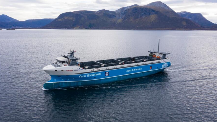 World's First Zero-Emission Autonomous Cargo Ship Is All-Electric