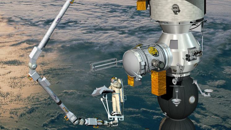 'Walking' Robot Arm Will Launch to ISS After 20-Year Delay