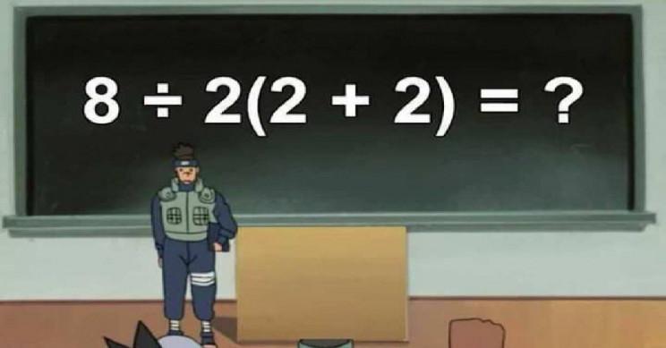 Simple Math Equation Divides Internet
