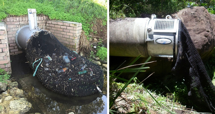 Australian City Uses Drainage Nets to Stop Waste from Polluting Waterways