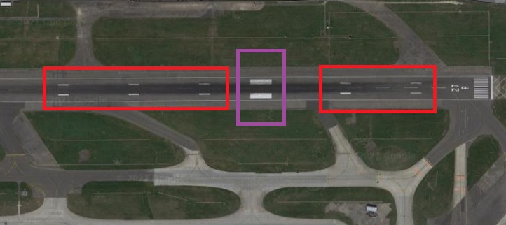runway markings touchdown and aiming point