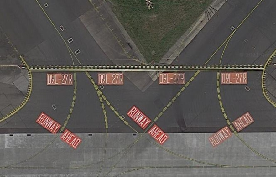 runway markings hold position