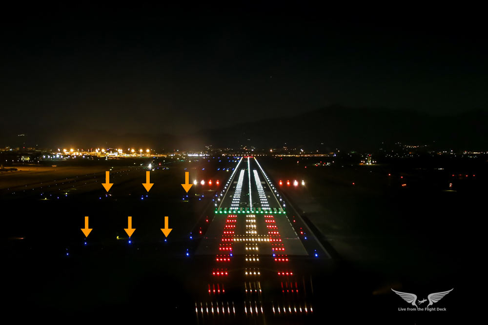 runway markings and lights taxiway