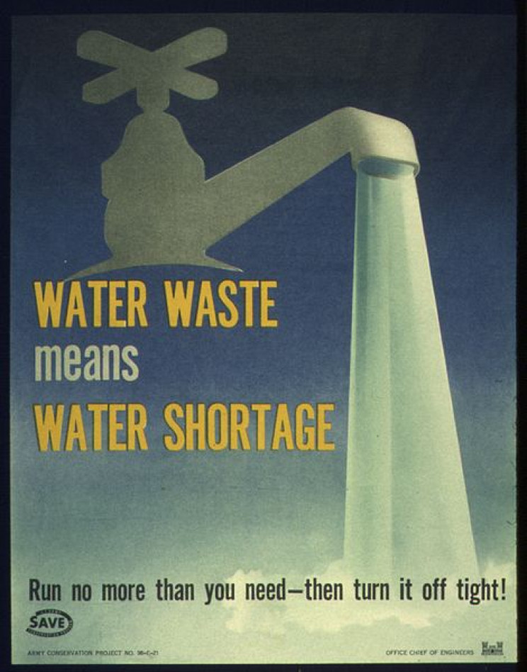 poster from the U.S. Office about water shortage