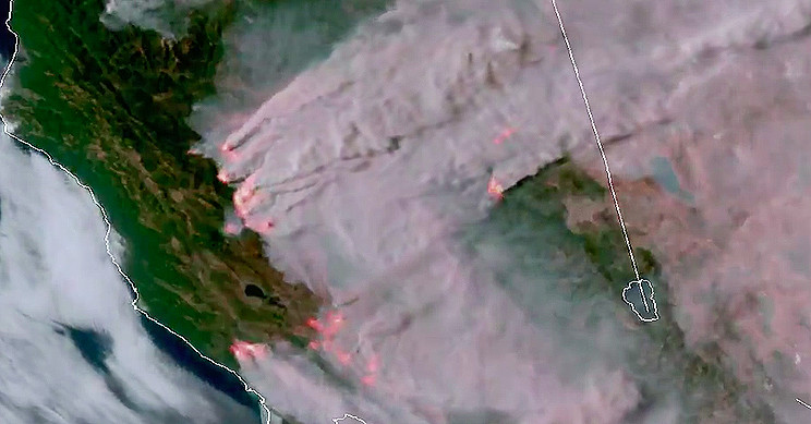 Satellite Imagery Shows Devastating Wildfires of California