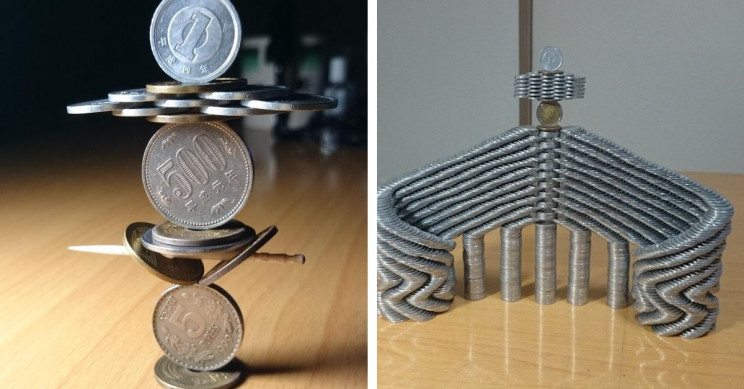 11 Times This Japanese Guy Defied Gravity with His Coin Stacking Skills