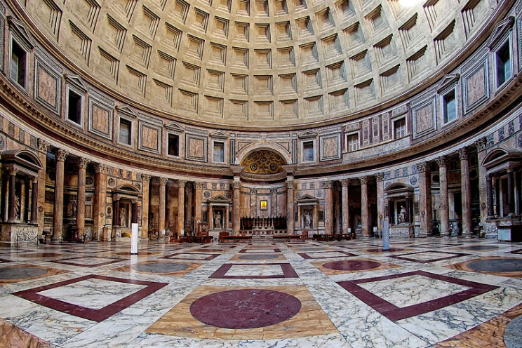 concrete roman pantheon