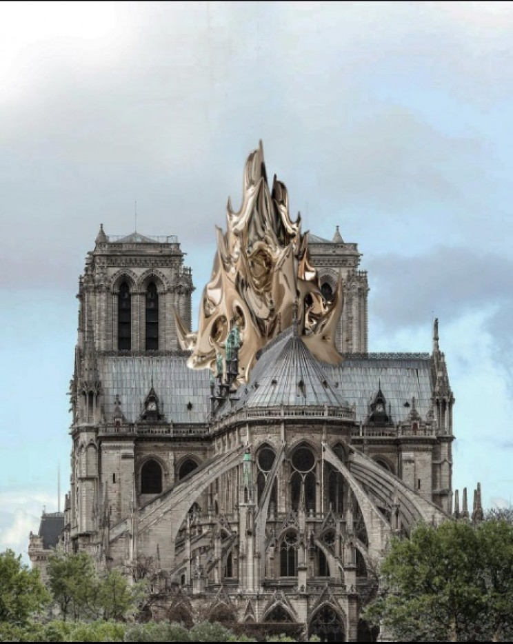 notre dame reconstruction flame