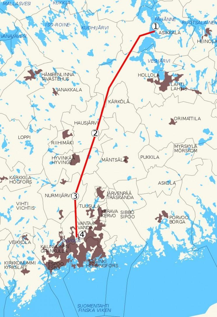 longest tunnels Finland