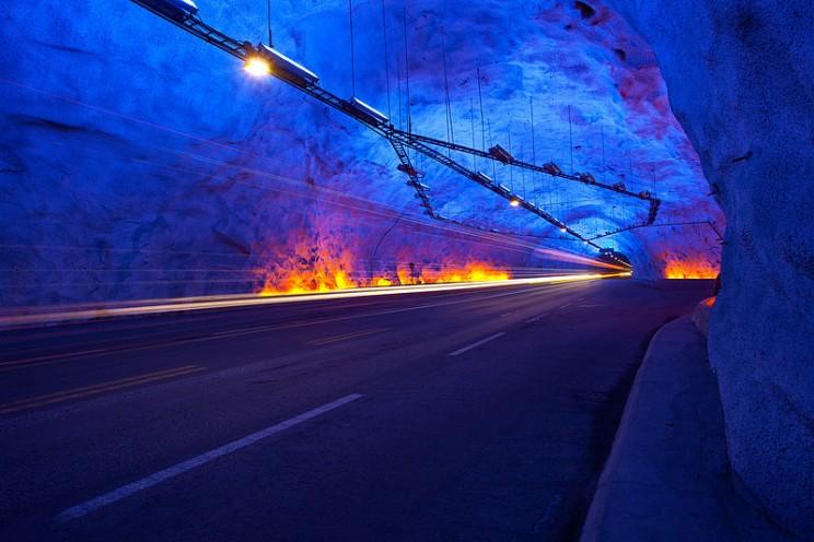 longest tunnels Lærdal