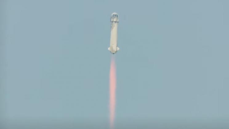 Jeff Bezos Launches to Space Aboard Blue Origin Rocket