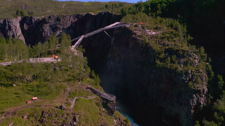 Norway's New 154-Feet-Long 'Step-Bridge' Is an Architectural Marvel
