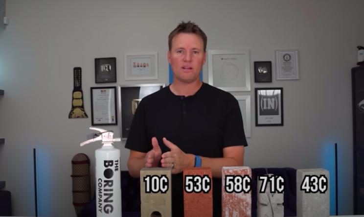 YouTuber Puts Elon Musk's 10 Cent Boring Bricks' Durability to Test