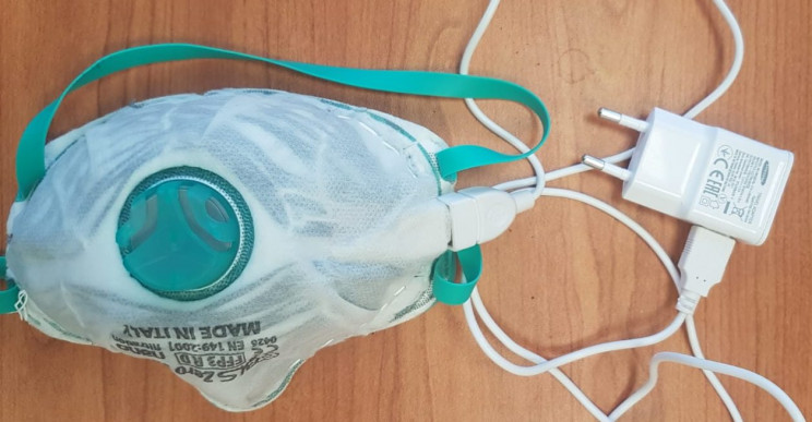 Israel Institute of Technology Self-Disinfecting Mask