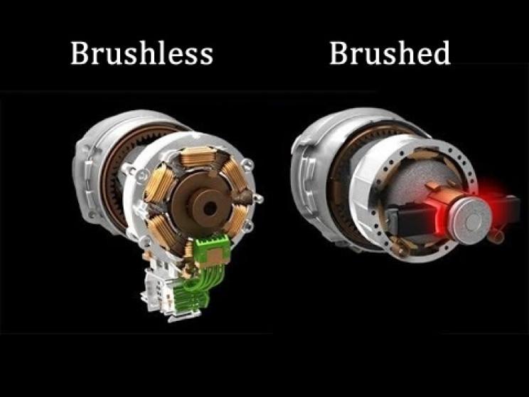 brushed versus brushed motors