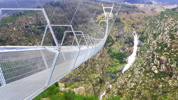 World's Longest Pedestrian Suspension Bridge Now Open in Portugal