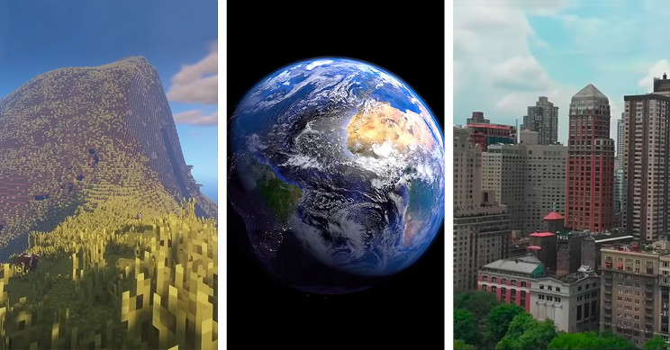 Minecraft Player Builds 1:1 Scale Model of the Earth, It Is as Real as It Gets