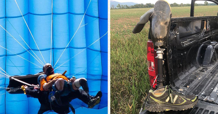 Amputee Skydiver Drops Prosthetic Leg, Eagle-Eyed Farmer Returns It
