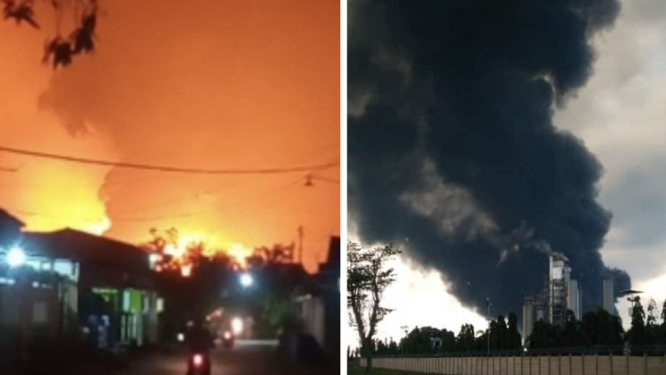 Watch Oil Refinery Blow Up After Possibly Getting Struck by Lightning