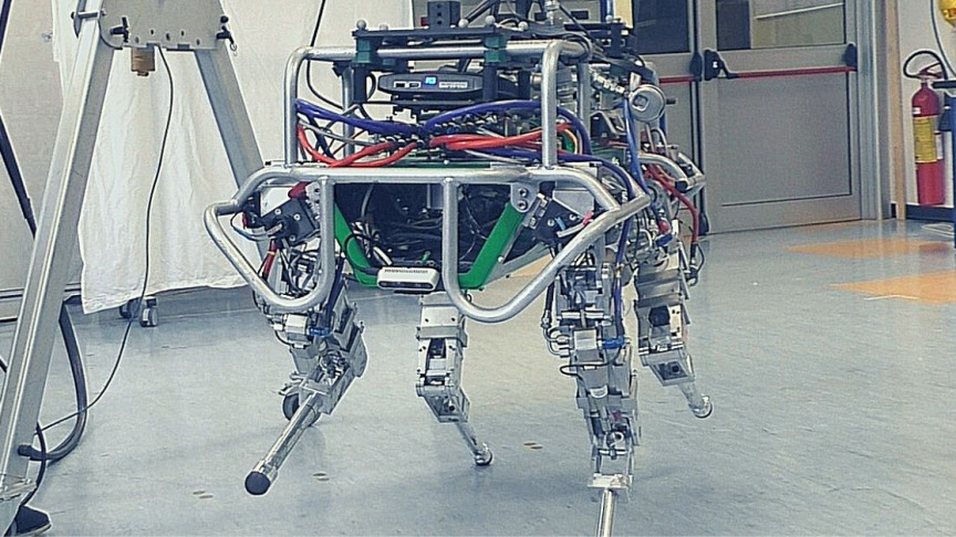 This Four-Legged Robot Executes a 'Ninja Walk' Across Narrow Bridges