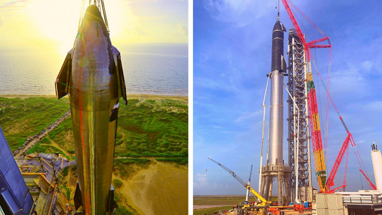 Elon Musk's SpaceX Assembled the Full Starship Launch System for the First Time