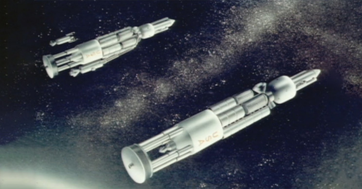 Project Orion Spaceships In Deep Space