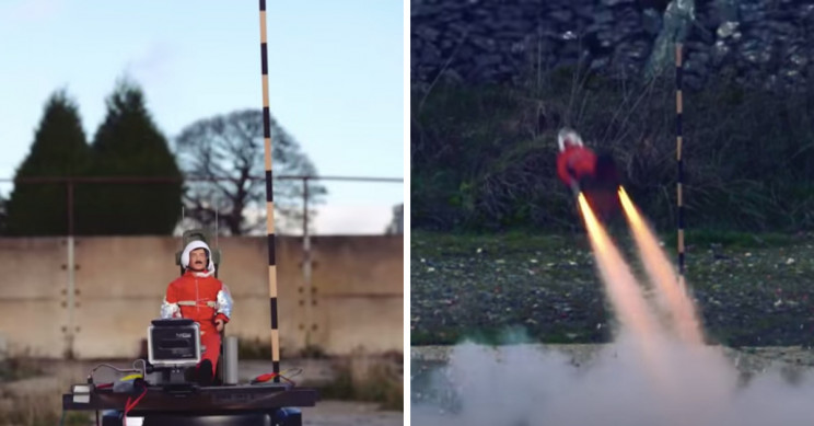YouTuber Launches Out of a Rocket-Powered Ejection Seat