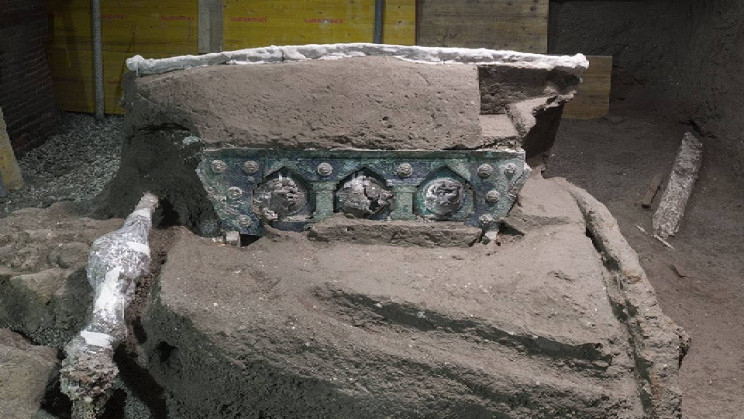 Ornate Ceremonial Chariot Discovered Almost Intact in Pompeii