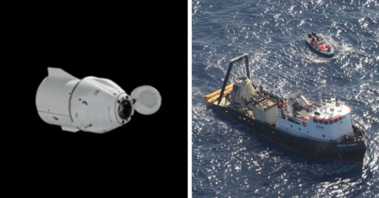 SpaceX Cargo Dragon Capsule Splashes Down to Earth