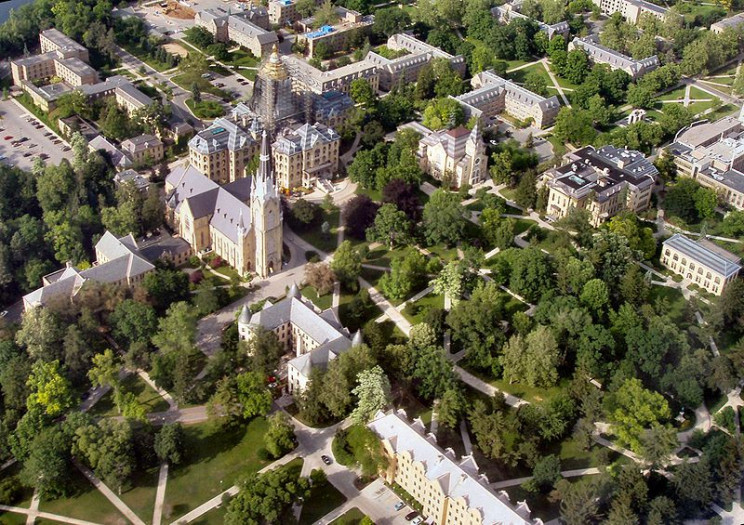 amazing university campuses notre dame