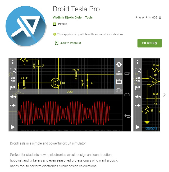 engineering apps droid tesla