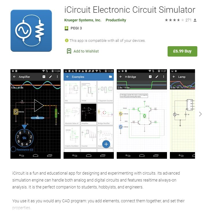 iCircuit engineering app