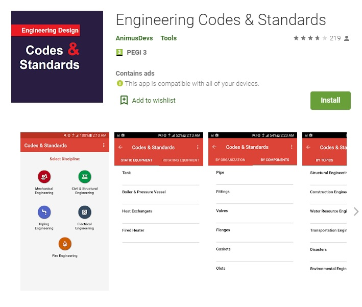 engineering apps codes and standards