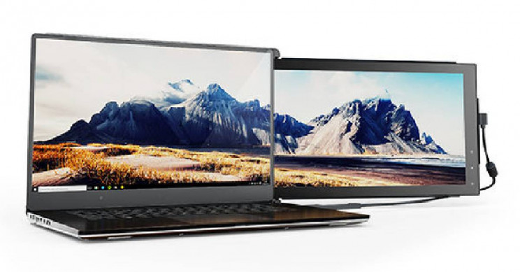 Increase Your Productivity with This Portable Dual Screen Laptop Monitor
